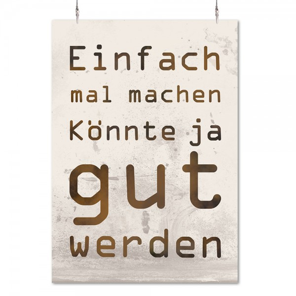 Poster 'Einfach mal machen'