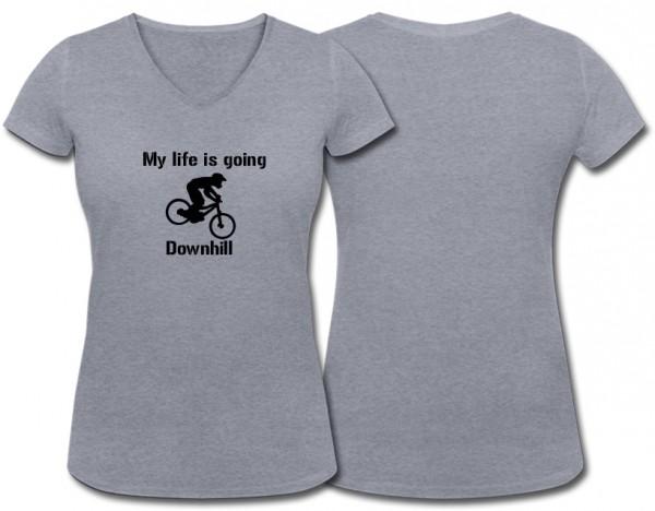 """Girlieshirt """"Downhill"""""""