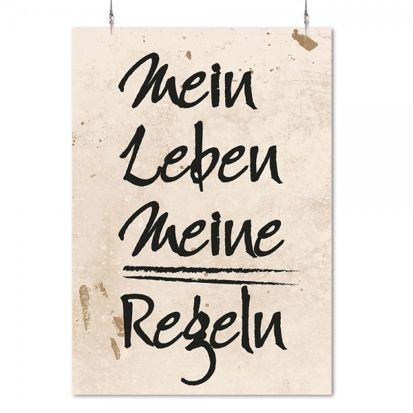"""Poster """"Mein Leben"""""""