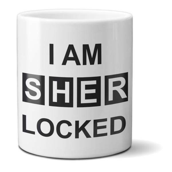"""Tasse """"I am sherlocked"""""""