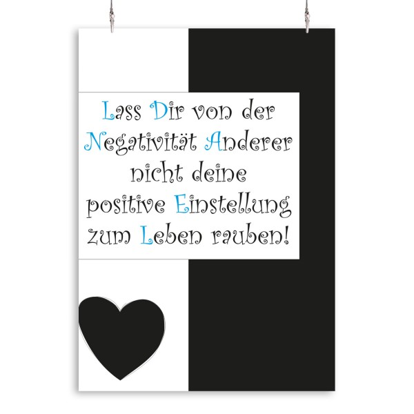 """Poster """"Positive Einstellung"""""""