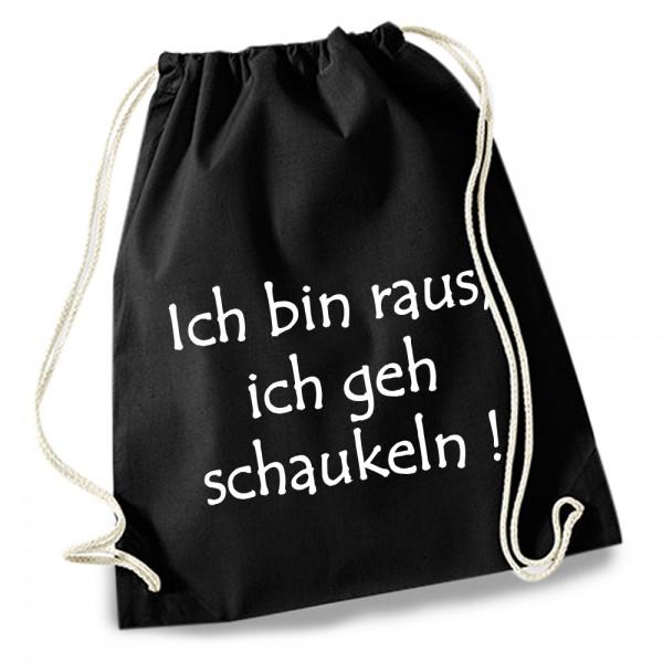 """Turnbeutel / Stoff-Rucksack """"Ich geh schaukeln"""""""