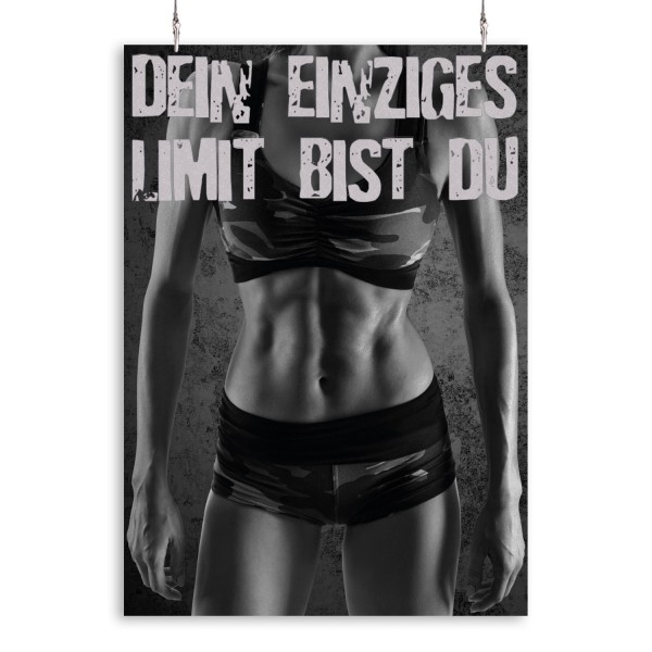 "Poster ""Limit Frau"""