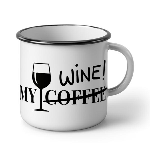 """Emaillebecher """"My Wine """""""